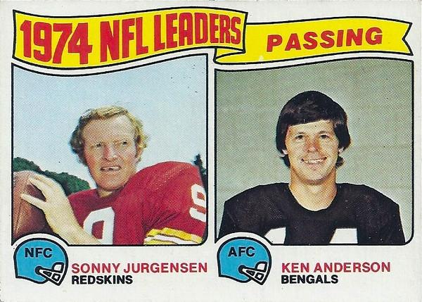 Passing Leaders 1975 Topps