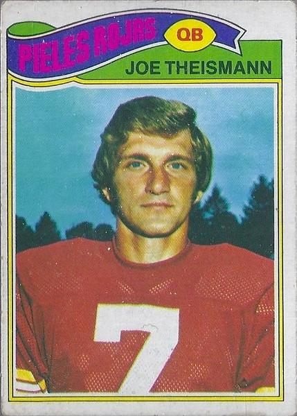 Joe Theismann 1977 Topps Mexican