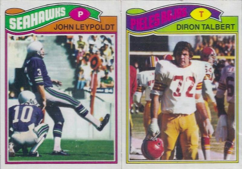 Diron Talbert 1977 Topps Mexican two card panel
