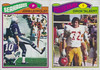 Diron Talbert 1977 Topps Mexican two card panel