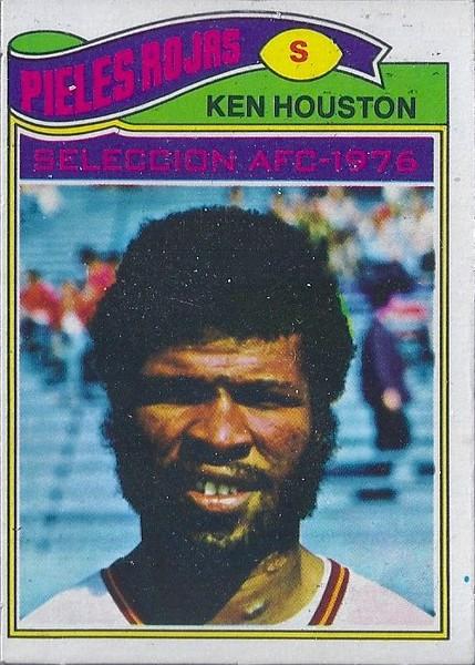 Ken Houston 1977 Topps Mexican