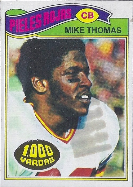 Mike Thomas 1977 Topps Mexican
