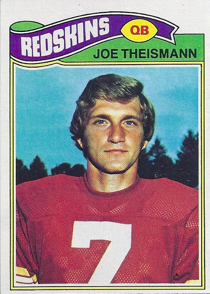 Joe Theismann 1977 Topps
