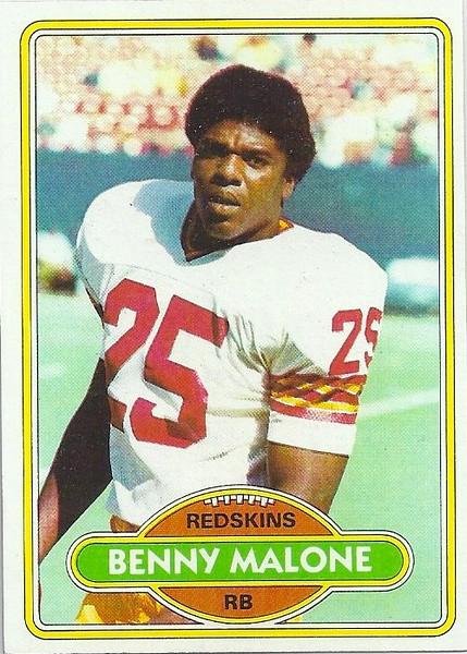 Benny Malone 1980 Topps