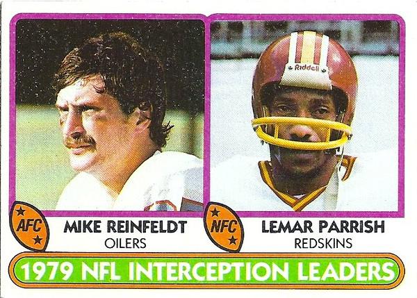 1980 Topps Interception Leaders Lemar Parrish