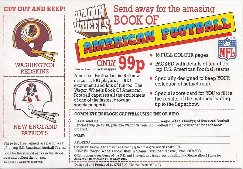 Redskins Helmet 1986 Wagon Wheels UK