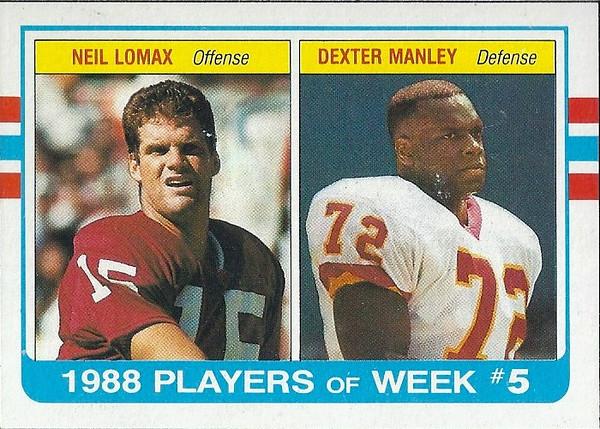Dexter Manley 1989 Topps Box Bottoms