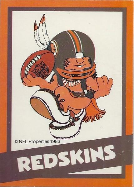 1983 Huddles Redskins Card