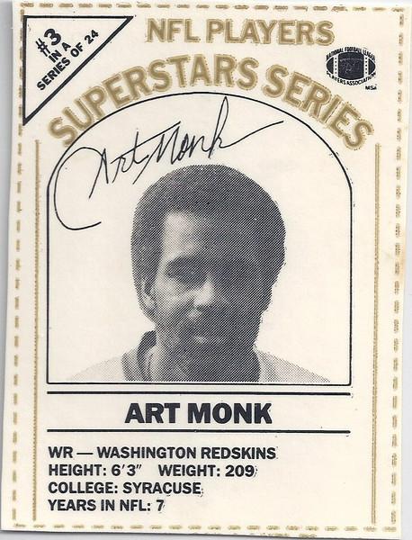 1986 Dairy-Pak Gold Art Monk