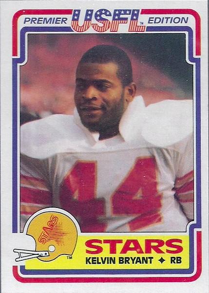 1984 Topps USFL Kelvin Bryant