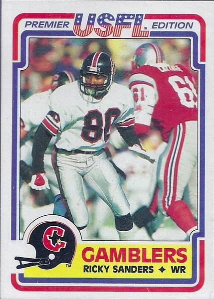 1984 Topps USFL Ricky Sanders