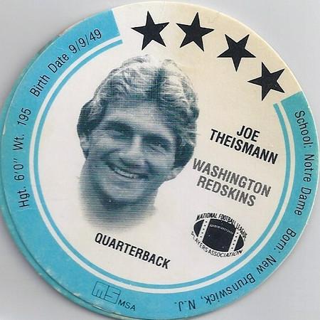 Joe Theismann 1983 MSA Discs