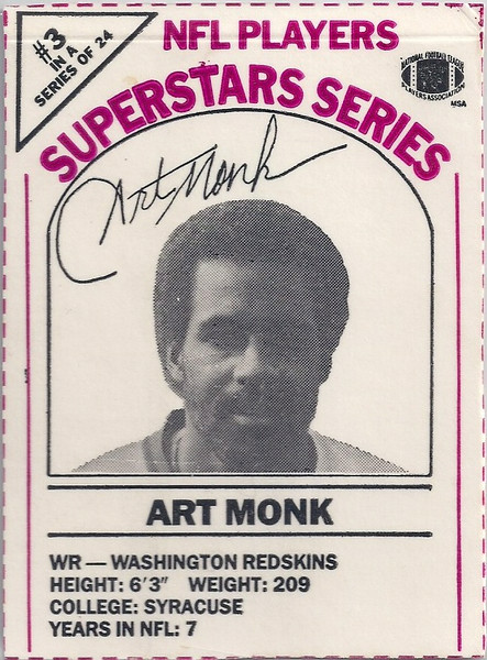 1986 Dairy-Pak Magenta Art Monk