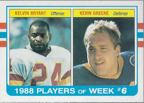 Kelvin Bryant 1989 Topps Box Bottoms