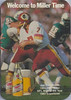 Joe Theismann 1983 Miller Schedule