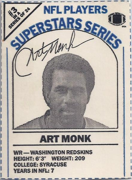 1986 Dairy-Pak Blue Art Monk