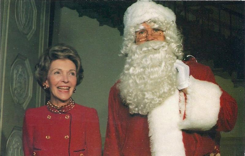 John Riggins and Nancy Reagan Coral-Lee Postcard