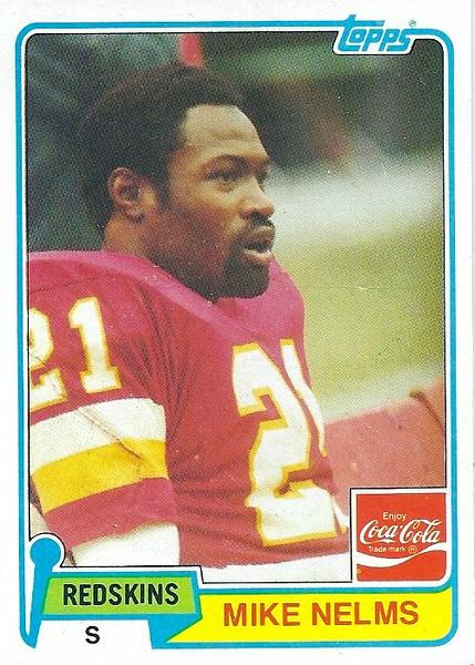 Mike Nelms 1981 Coke Topps
