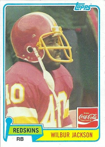 Wilbur Jackson 1981 Coke Topps