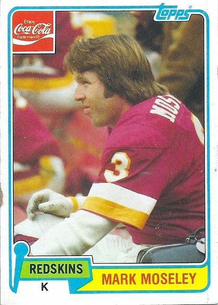 Mark Moseley 1981 Coke Topps