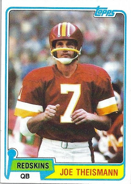 Joe Theismann 1981 Topps