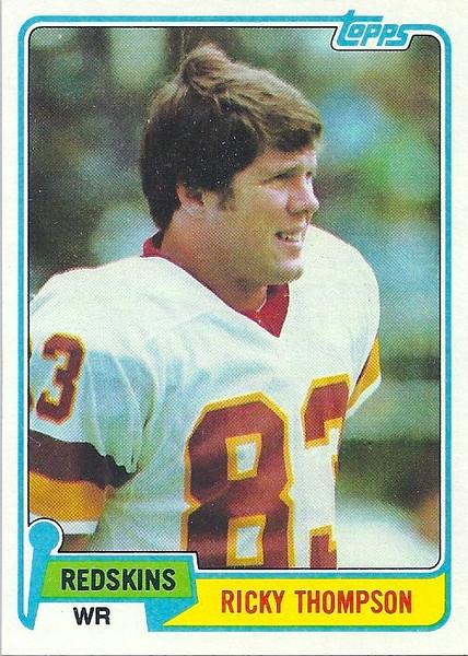 Ricky Thompson 1981 Topps