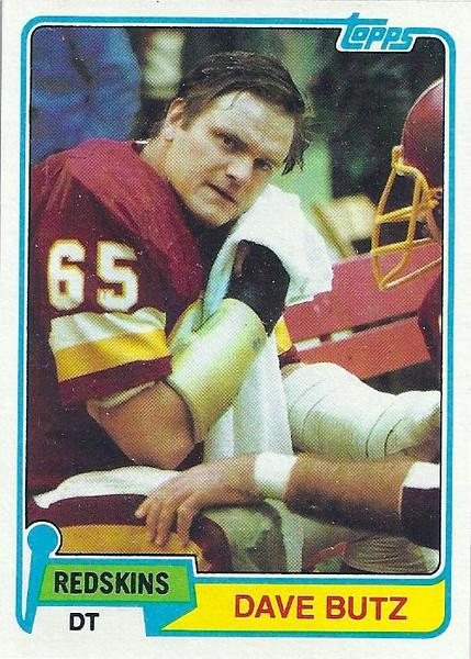 Dave Butz 1981 Topps