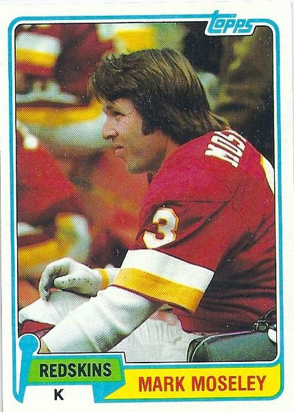 Mark Moseley 1981 Topps