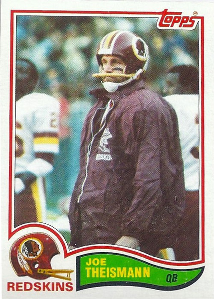 Joe Theismann 1982 Topps