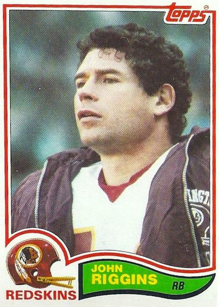 John Riggins 1982 Topps