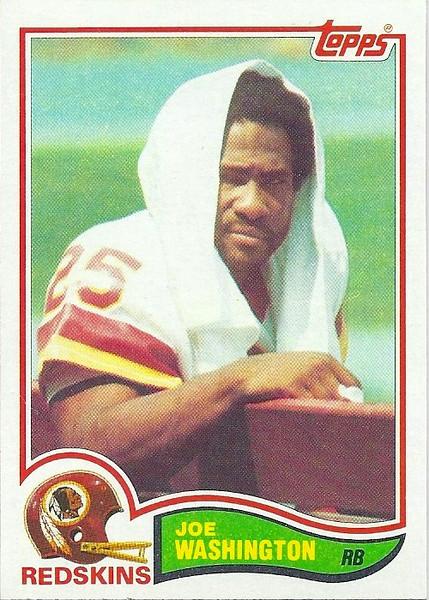 Joe Washington 1982 Topps
