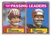 1983 Topps Passing Leaders Joe Theismann