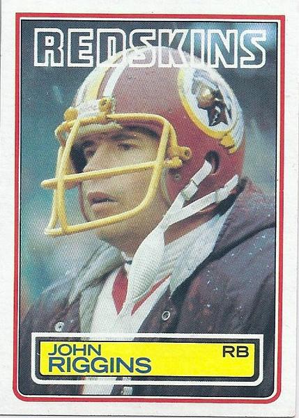 John Riggins 1983 Topps