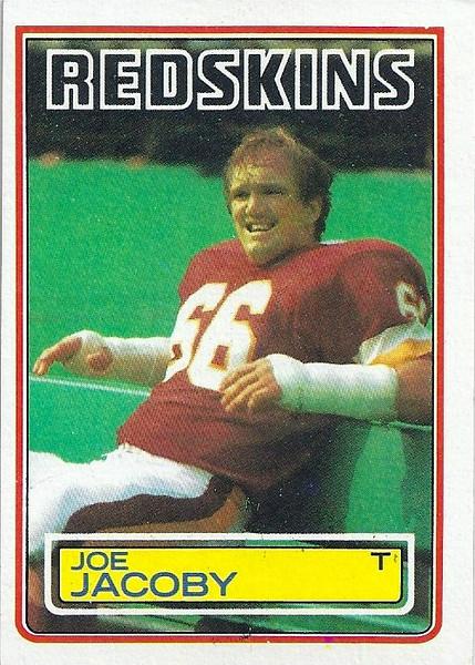 Joe Jacoby 1983 Topps