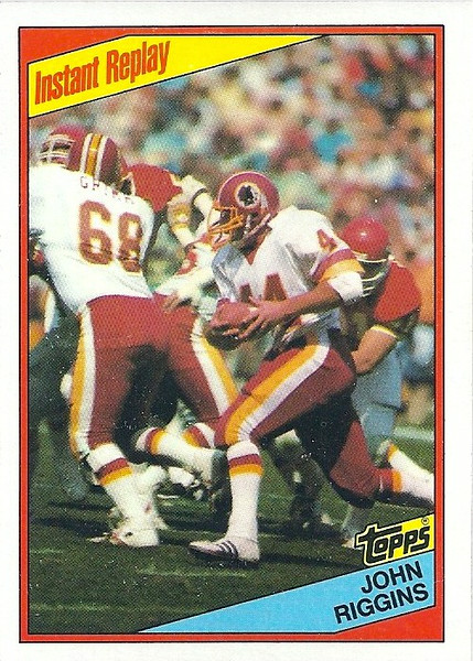 John Riggins Instant Replay 1984 Topps