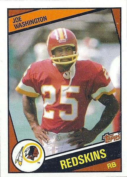 Joe Washington 1984 Topps