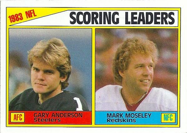 Scoring Leaders 1984 Topps Mark Moseley