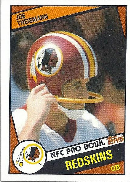 Joe Theismann 1984 Topps