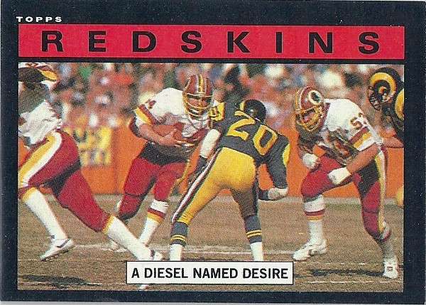 Redskins Team Leaders 1985 Topps