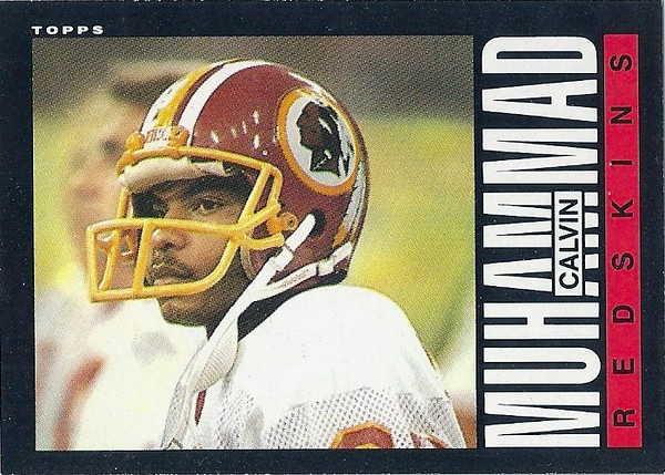 Calvin Muhammad 1985 Topps
