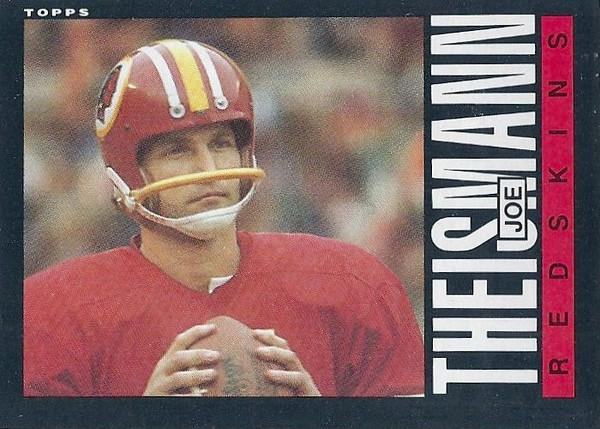 Joe Theismann 1985 Topps