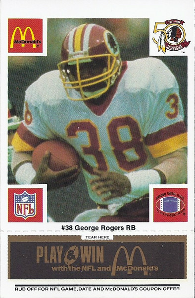 George Rogers 1986 McDonald's Black Tab