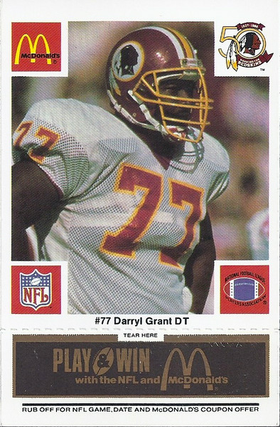 Darryl Grant 1986 McDonald's Black Tab