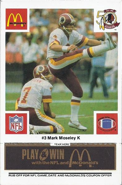 Mark Moseley 1986 McDonald's Black Tab