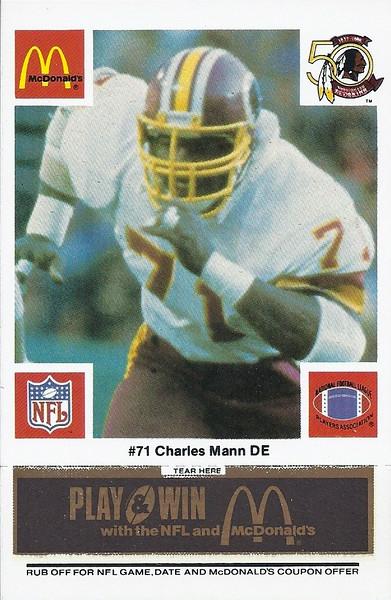 Charles Mann 1986 McDonald's Black Tab