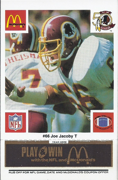 Joe Jacoby 1986 McDonald's Black Tab