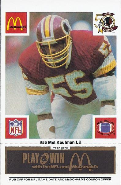 Mel Kaufman 1986 McDonald's Black Tab