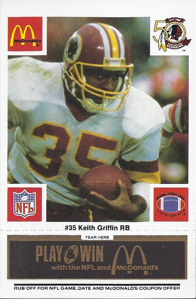 Keith Griffin 1986 McDonald's Black Tab