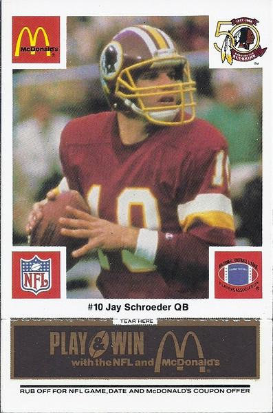 Jay Schroeder 1986 McDonald's Black Tab