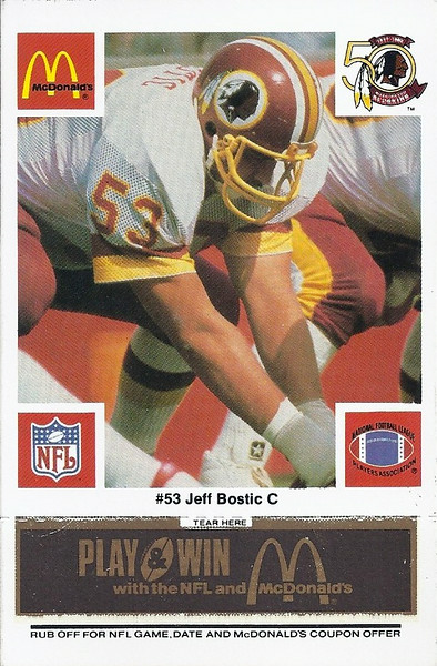 Jeff Bostic 1986 McDonald's Black Tab